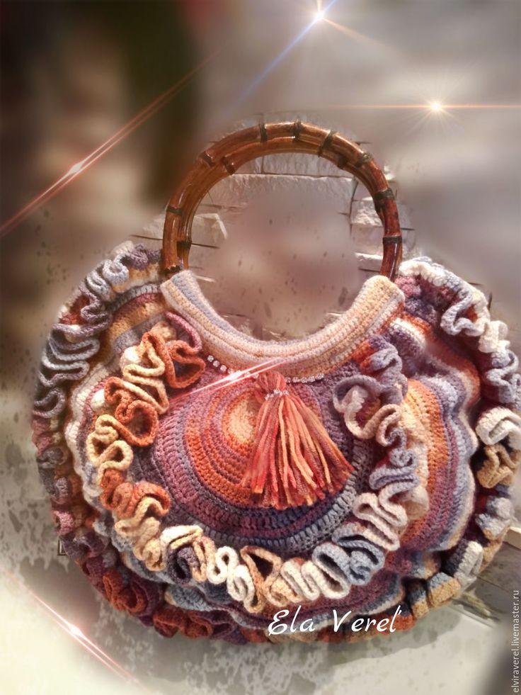 """Купить Вязаная сумка """"ВСЕ КРАСКИ ОСЕНИ - Бохо"""" - оригинальная сумка, дизайнерская сумка"""