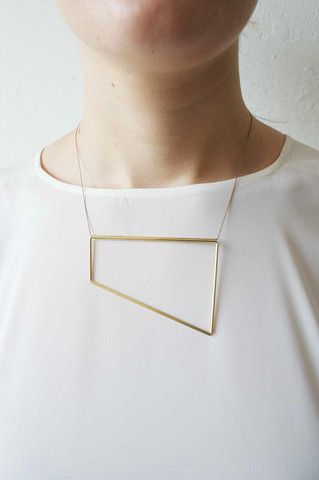 Brass & Japanese Silk natural polygon