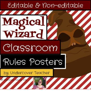 Do you love Magical Wizards and Witches? Or do your students love magical, fantasy books and movies? Inspire your students to love reading with these fun, EDITABLE Classroom Rules and Procedures Posters! This is NOT a clipart set, so you will not be able to copy/paste the characters out and use them on other things.