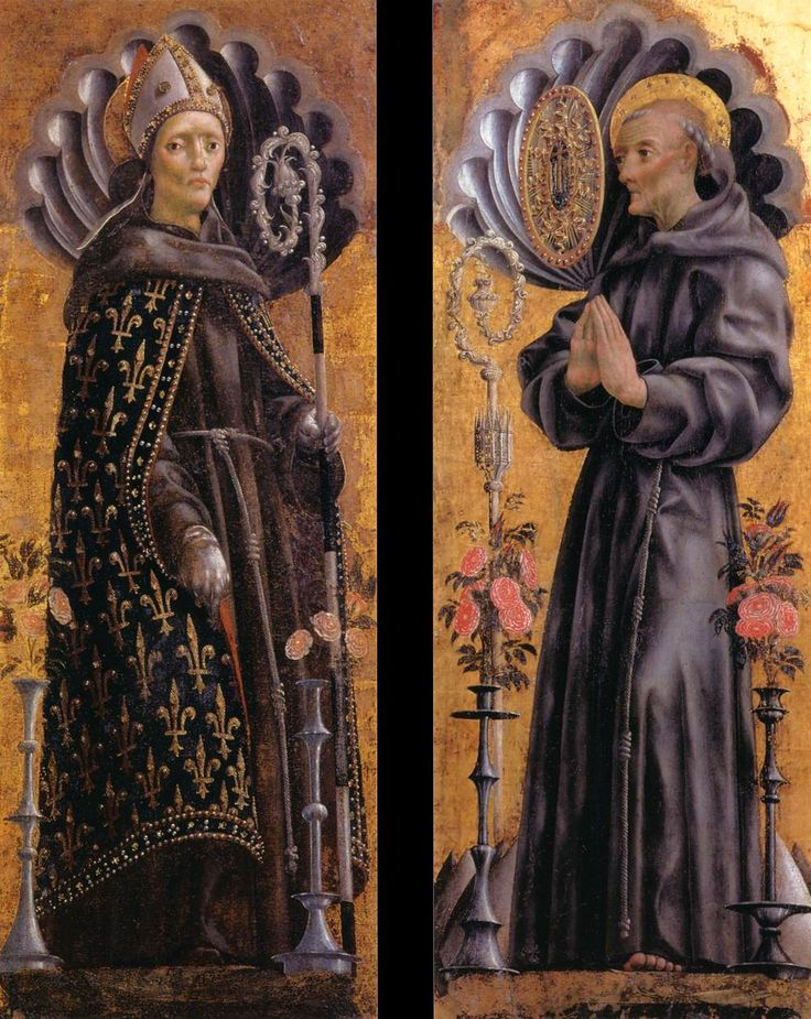 Michele Pannonio, 1455-63 San Ludovico e San Bernardino da Siena, Ferrara Pinacoteca