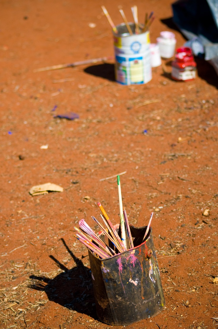 Yes, our Indigenous Australian paintings certainly do get painted out in the deserts!