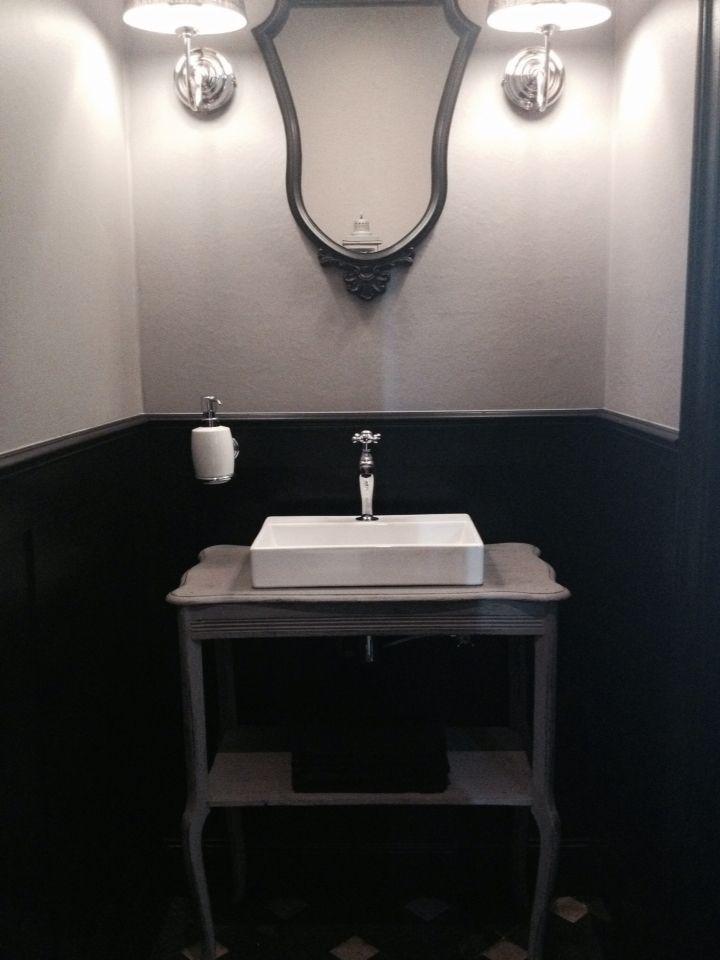 Meer dan 1000 idee n over toilet beneden op pinterest badkamer beneden kleine toiletruimte en - Deco toilet zwart ...