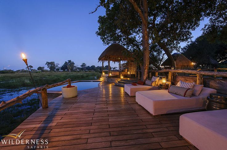 Little Mombo is built under a shady canopy and has three luxurious rooms under canvas with en-suite bathrooms and outdoor showers. #Africa #Safari #Botswana