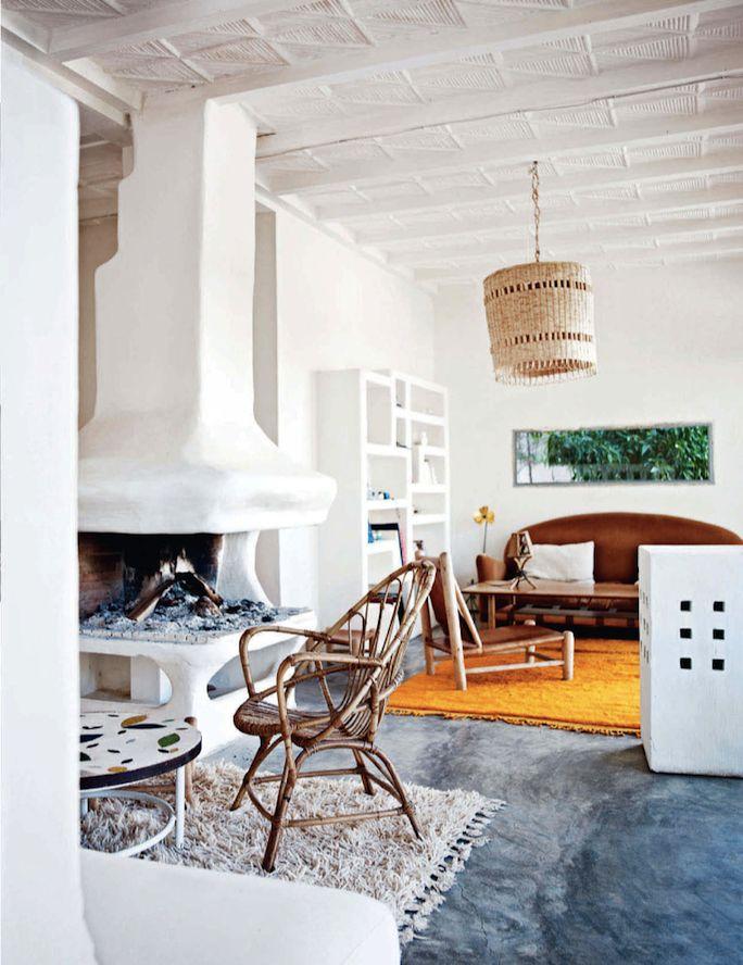 Photo Birgitta Wolfgang Drejer - elledecorationKitchens Design, Rugs Orange, Living Spaces, Birgitta Wolfgang, Jewelry Design, Interiors Design, Living Room, Baskets Pendants, Room Design