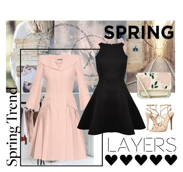 """""""Spring Jacket"""" by travlingal ❤ liked on Polyvore featuring Alexander McQueen, Schutz, Ted Baker, Accessorize, Heels, springcolors, springfashion, pinkandblack and polyvorecontest"""