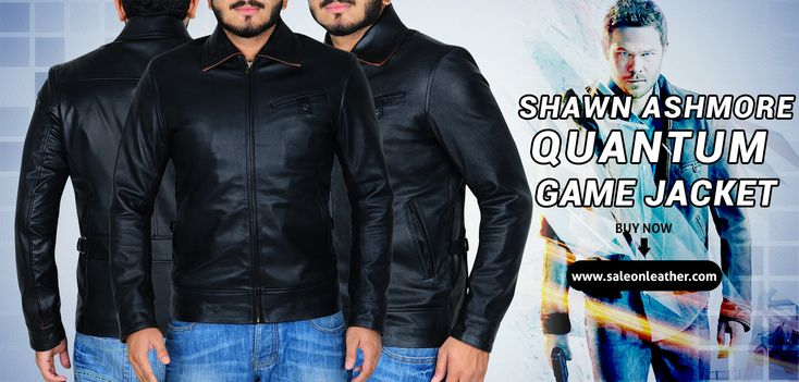 Get the #ShawnAshmore #Quantum #GameJacket exclusively at saleonleather.com store Quantum Break is the latest action-adventure #game belongs to Famous Actor #ShawnRobert #Ashmore.