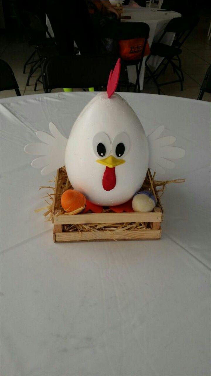 Centro de mesa gallina