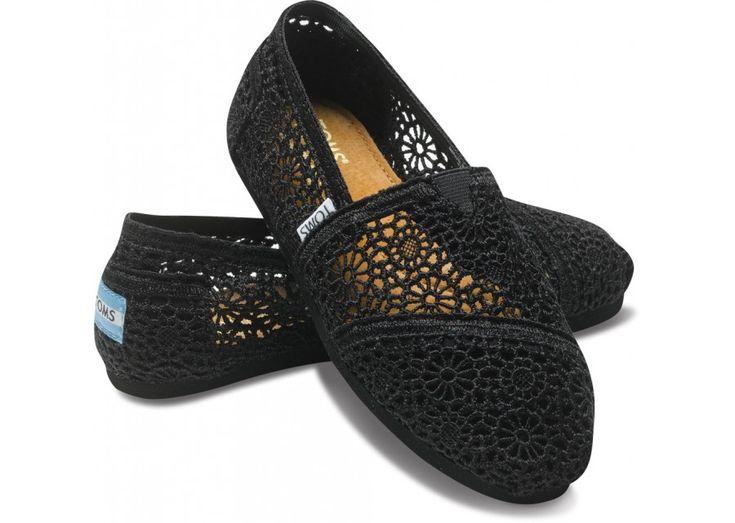 Toms: Lace Toms, Black Lace, Fashion, Crochet Shoes, Crochet Toms, Black Crochet, Toms Outlet, Toms Shoes, Styles