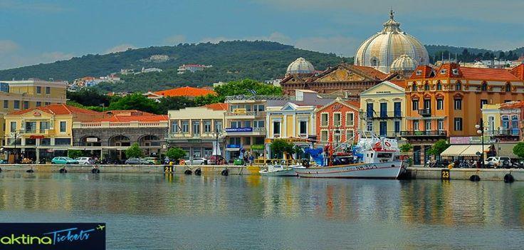 Η πόλη της Μυτιλήνης βρίσκεται κτισμένη στο νοτιοανατολικό άκρο της Λέσβου, είναι η πρωτεύουσα του νησιού και έδρα του νομού Λέσβου και της περιφέρειας Β.Αιγαίου.H έκταση της πόλης είναι σχετικά μεγάλη,αλλά δυσανάλογη ως προς τον πληθυσμό της.Αμφιθεατρικά κτισμένη με πολλά διατηρητέα νεοκλασικά και κάποια δυτικής ευρωπαϊκής αρχιτεκτονικής κτήρια,κερδίζει σίγουρα τις καλύτερες εντυπώσεις των επισκεπτών.
