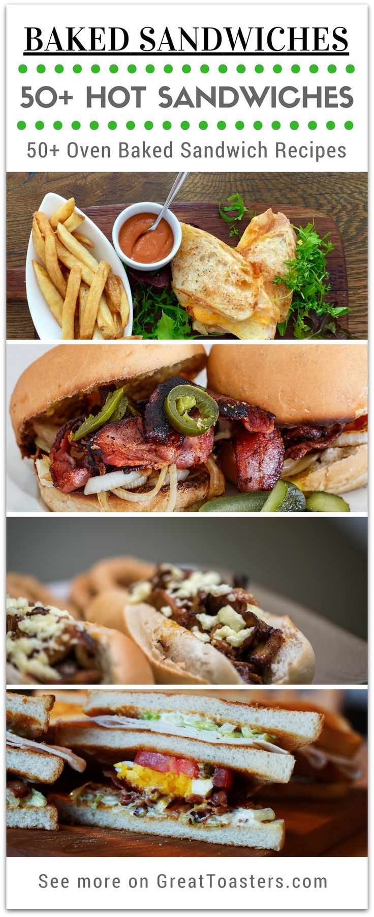 50+ Toaster Oven Sandwich Recipes. These 50+ baked sandwiches are easy to make for a crowd or family. Here are 50+ recipes for breakfast, lunch, & dinner