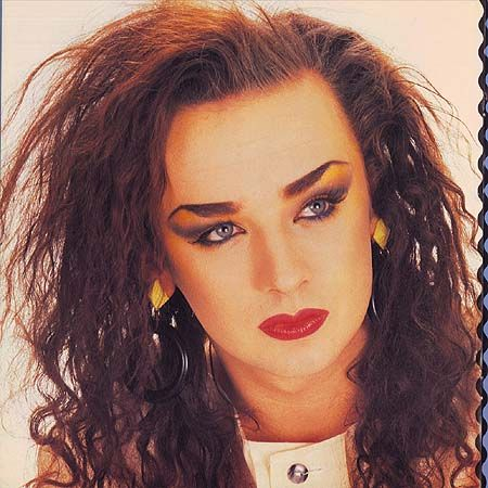 Boy George, I lived facinated by this gorgeous blue eyed man w the face of an Angel.