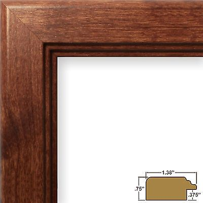 craig frames mossehaus contemporary walnut brown picture frame