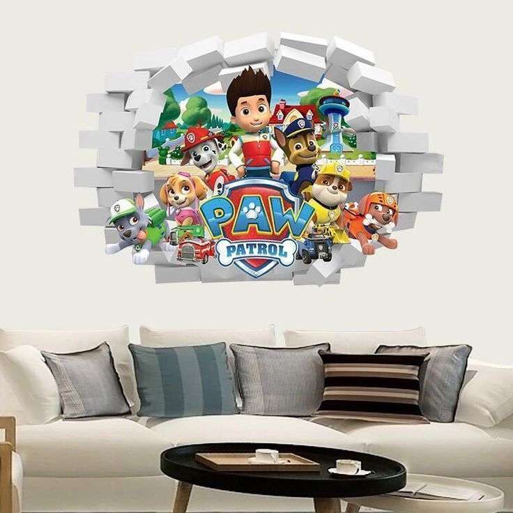 PAW PATROL WALL STICKER 3D BOYS GIRLS BEDROOM VINYL WALL ART DECAL #Unbranded