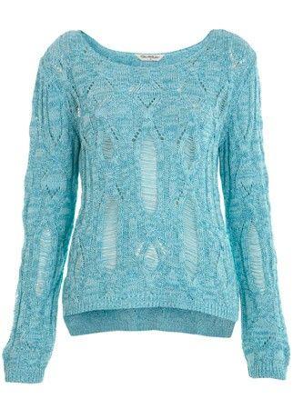 Miss Selfridge ladder cable knit jumper, £35