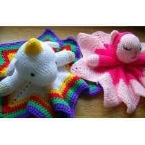 Manta De Apego Tejidas Crochet Bebés Nacimiento Baby Shower