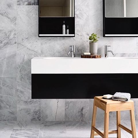 Elba natural stone from @artedomus can't get enough of these tiles! Top of the lust list for my new ensuite. #rg via @openjournal_neometro #elba #stone #marble #grey #artedomus