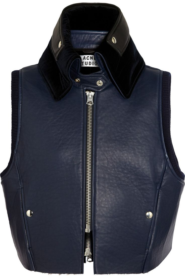 Acne | Mix padded leather gilet |  AMAZE