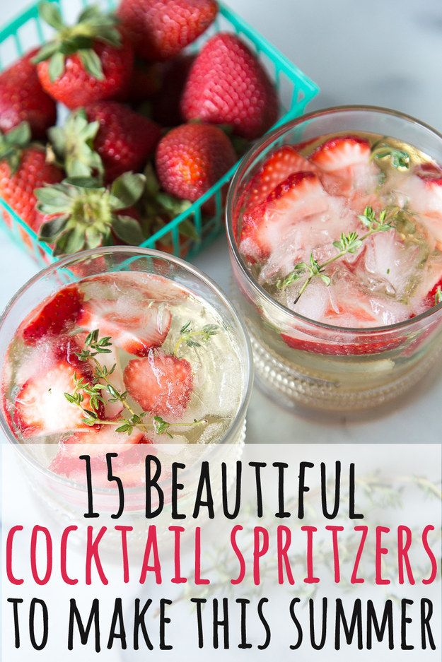 15 Boozy Spritzers To Keep You Cool On A Hot Day