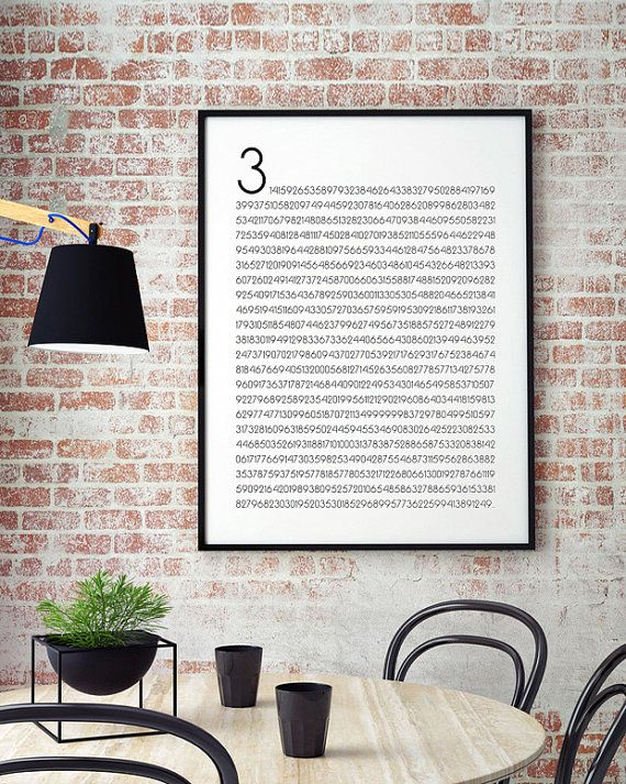 Pi Poster Math Art Math And Science Math Wall by MinimalistGraphic