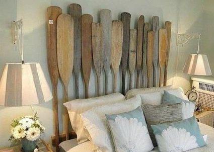 Este #cabecero realizado con remos de #madera es uno de nuestros favoritos.