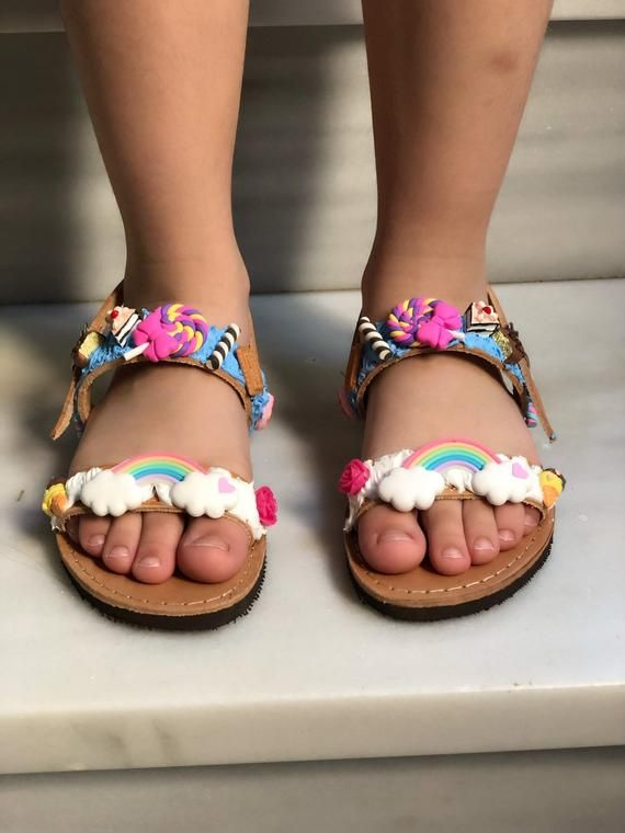 Colorful Baby Girls Sandals Leather Sandals Kids Sandals Etsy Baby Girl Sandals Girls Sandals Girls Leather Sandals
