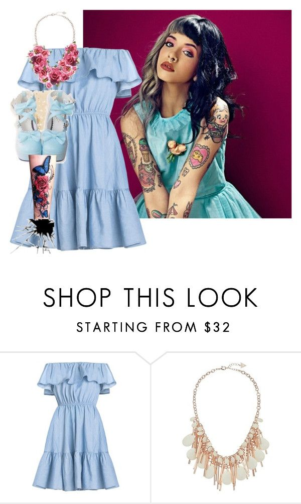 """""""Melanie Martinez Style"""" by rubysal ❤ liked on Polyvore featuring GUESS and melaniemartinez"""