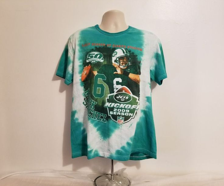 Last Season Giants Stadium Mark Sanchez No. 6 New York Jets Large TShirt #NewYorkJets