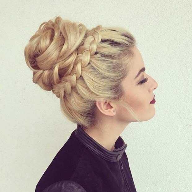 31 Most Beautiful Updos For Prom | Pinterest | High Bun, Crown Braids And  Prom Night