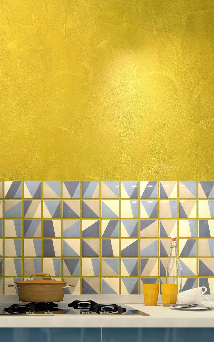 #stralike #starlikedecor #litokol #kitchen #yellow