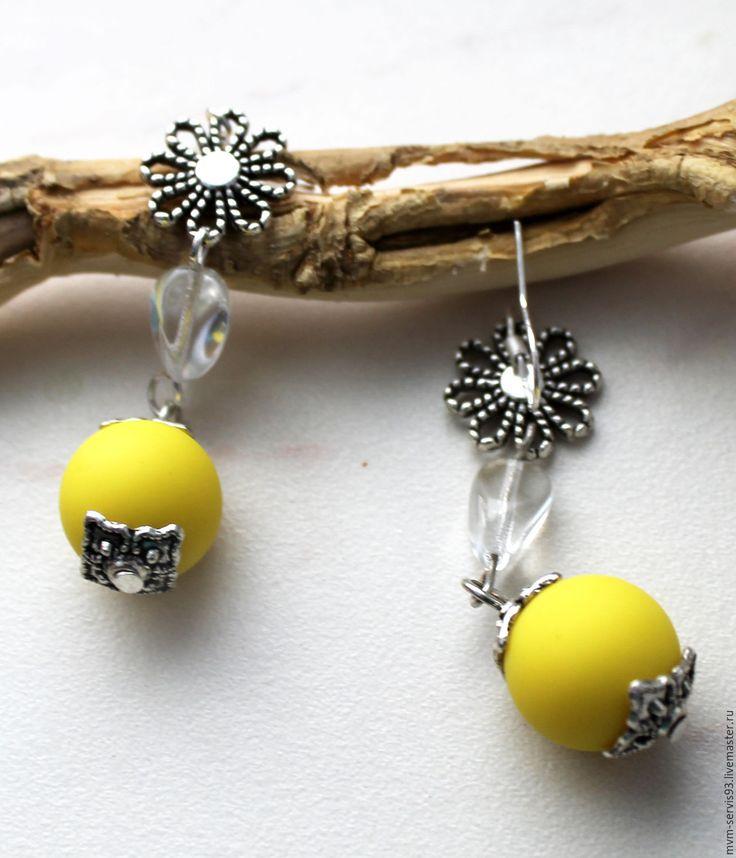 Купить Серьги ярко-желтые - желтый, лимонный, яркий, подарок, подарок женщине