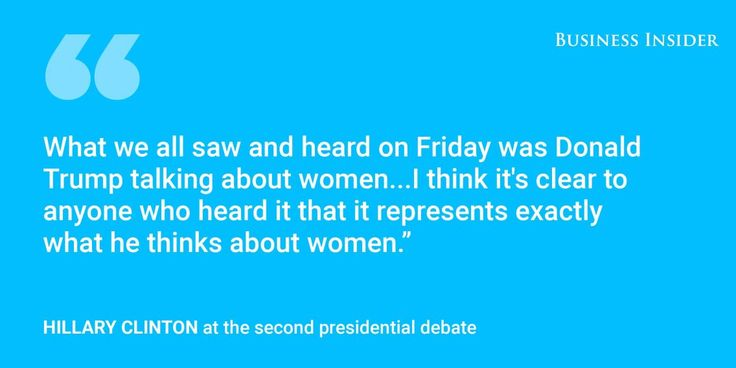 The most important quotes of the second presidential debate