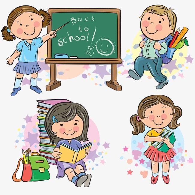 كرتون أطفال المدارس المدرسة قصاصات فنية من الأطفال رسوم متحركة Png وملف Psd للتحميل مجانا Shkolnye Idei Multfilmy Shkola