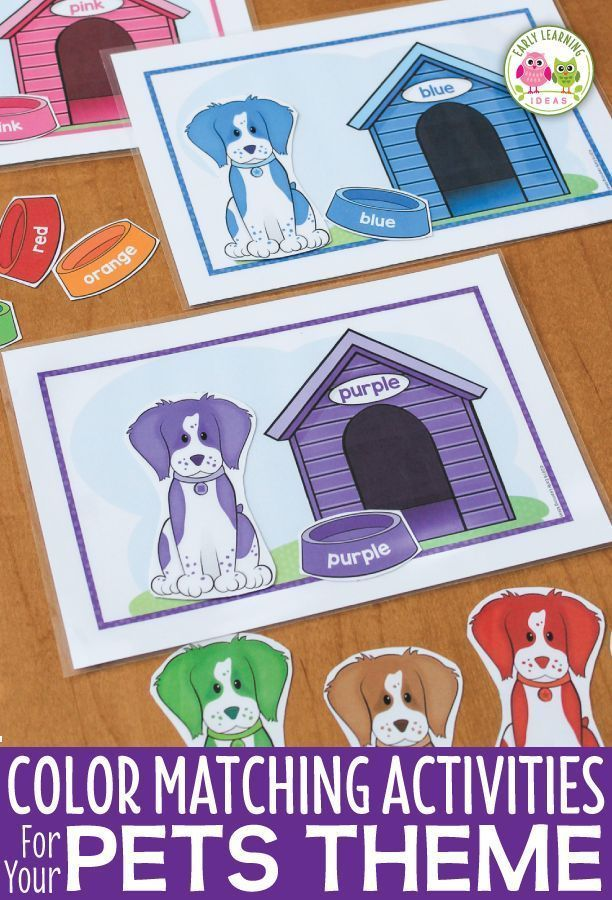 Dog Color Matching Activity For Preschool And Pre K Pets Preschool Theme Pets Preschool Preschool Activities