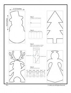 Christmas paper doll chains - Let them color - cut out!