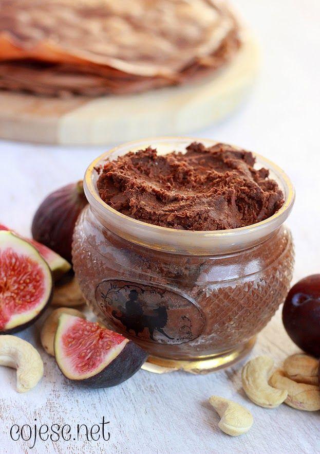 Krem czekoladowy z cieciorki, czyli zdrowe smarowidło na słodko | Zdrowe Przepisy Pauliny Styś
