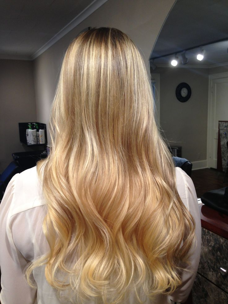 Blonde Balayage And Blonde Ombre With A Dark Blonde Base