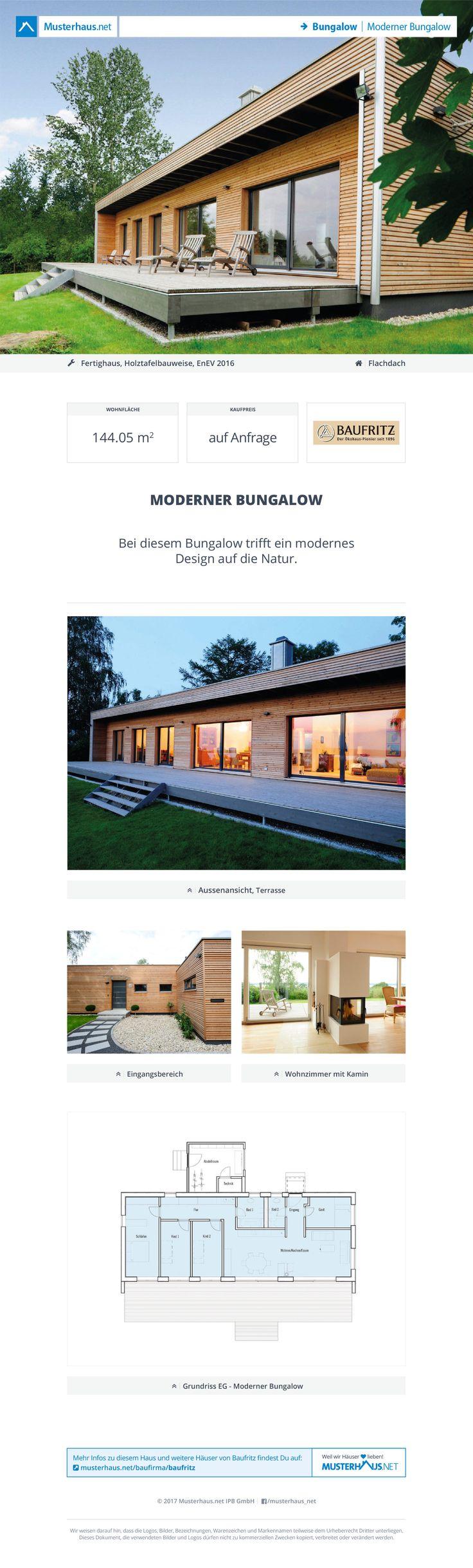 Superieur Moderner #Bungalow · Baufritz · Jetzt Bei #Musterhaus.net Unterlagen  Anfordern!