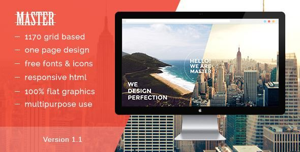 ThemeForest - Master - One Page HTML 5 Portfolio Template  Free Download