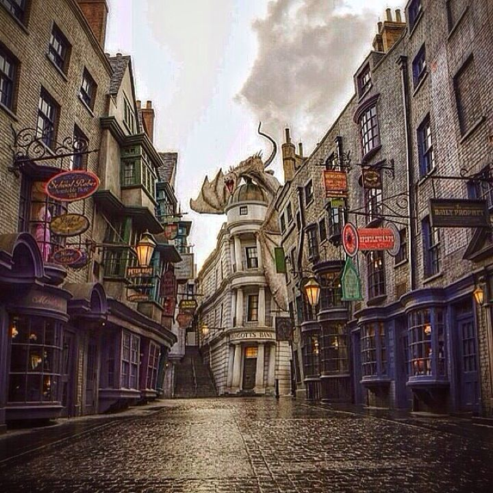 The Wizarding World Of Harry Potter - Diagon Alley in Orlando, FL: http://theitinerantlinguist.blogspot.com/2014/09/youll-wish-you-had-eight-more-eyes.html