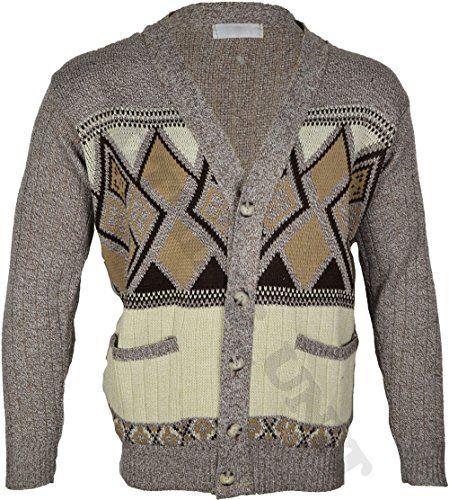Mens Classic Button Cardigan Argyle Grandad S M L XL (Small, Beige) Clothing Unit http://www.amazon.co.uk/dp/B00ONUVXU4/ref=cm_sw_r_pi_dp_WNc2ub1THY748