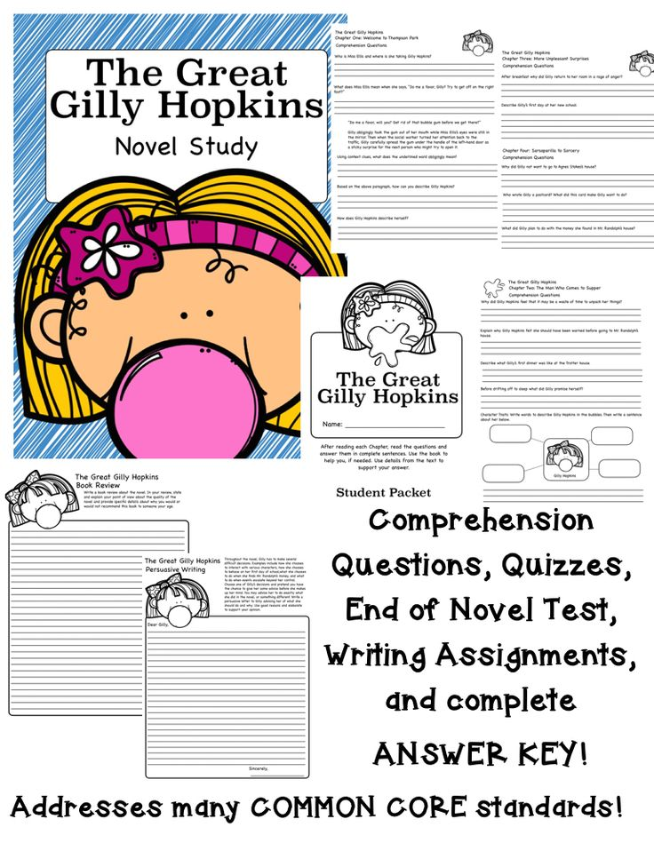 9 best the great gilly hopkins images on pinterest close reading the great gilly hopkins novel study lots of common core aligned questions fandeluxe Choice Image