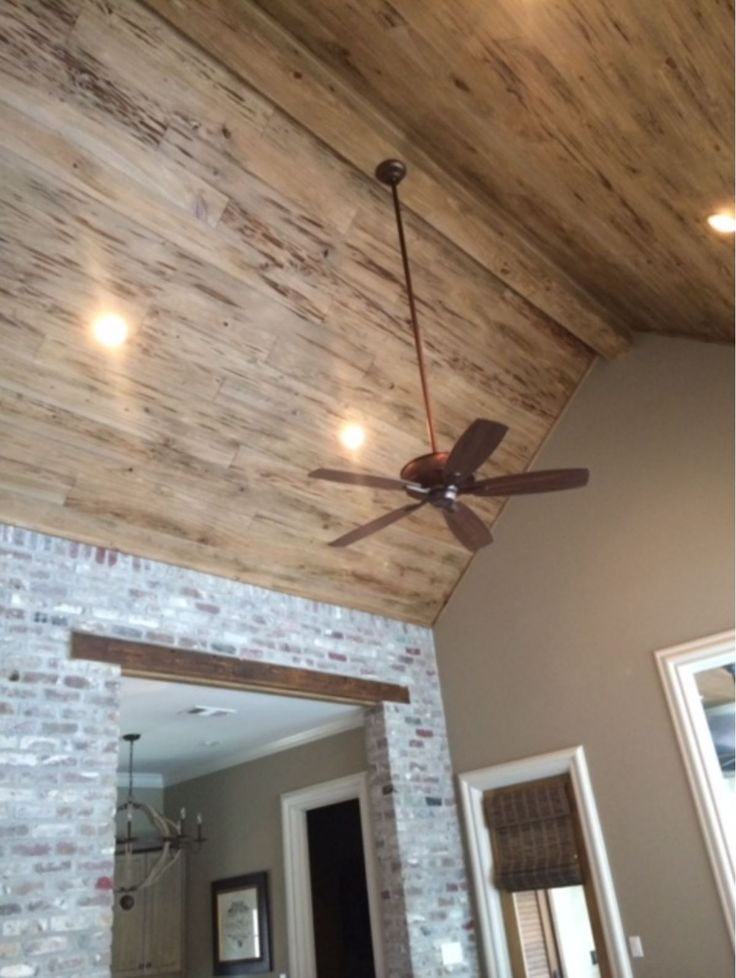Pecky Cypress Ceiling 6 Wide Weathered Oak Stain