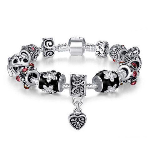 Stunning Silver Russian Charm Bracelet