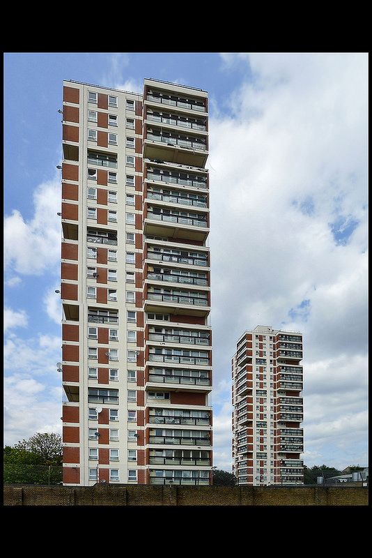 CANADA WATER ESTATE   ROTHERHITHE   LONDON   ENGLAND: *Construction: 1962-1964; Designed By: Colin Lucas for Greater London Council* Photo: via Flickr