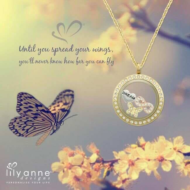 Until you spread your wings, you'll never know how far you can fly #lilyannedesigns #lisaslockets #lisaslocketsandcharms