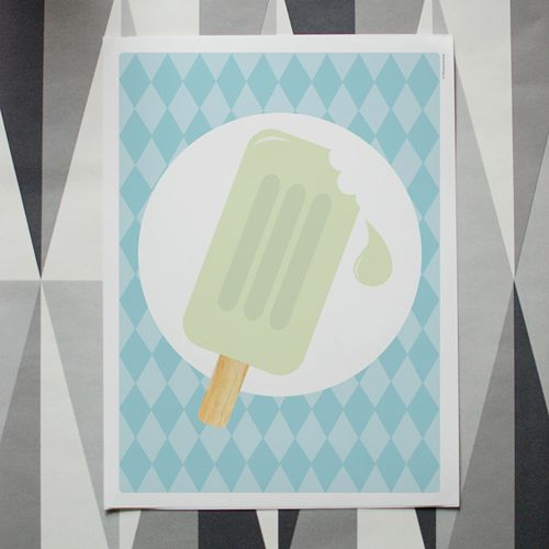 I scream, you scream, we all scream for ice cream! Skräddarsydda namntavlor, bokstavsposters och citattavlor. Grafiska prints och barnposters i små upplagor. www.itsteatimedarling.se #glass #icecream #barnposter #illustration #barnrum #poster #kidsroom #harlequin