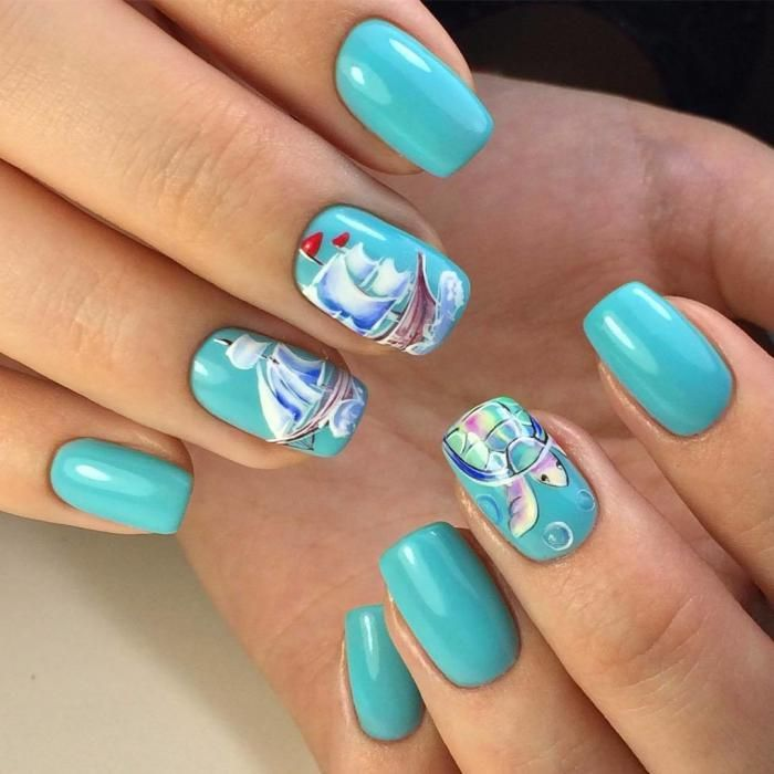 пляжный дизайн ногтей гель фото строчку интересующей монетой