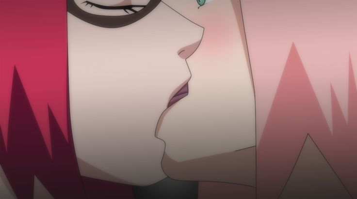 SakuKarin: Kiss by itanatsu-chan on deviantART