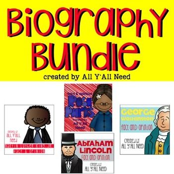 Help students learn facts and opinions about Martin Luther King, Jr., Abraham Lincoln, Rosa Parks and George WashingtonBuying this bundle will save you money.Buying each set individually will is $12.Buying this bundle is only $8.So, save your money and buy more shoes.This activity unit includes 2 complete versions (in full color and black/white).