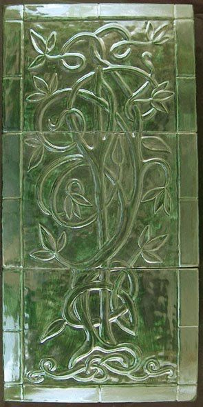 Celtic Tree Of Life Tile Decorative Handmade Ceramic